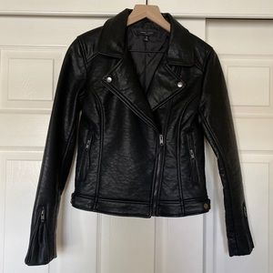 Romeo & Juliet Couture | Faux Leather Moto Jacket